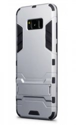 Mobilskal Samsung Galaxy S8 PLUS Armour Silver w/Stand