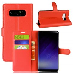 Mobilväska Samsung Galaxy Note 8 Red w/Stand