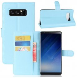 Mobilväska Samsung Galaxy Note 8 Light Blue w/Stand