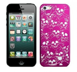 Hard Case iPhone 5/5S/SE Skull Head Pink