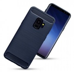 Mobilskal Samsung Galaxy S9 Carbon Dark Blue