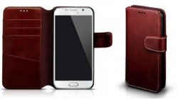 Mobilväska Samsung Galaxy S8 WineRed w/Stitching