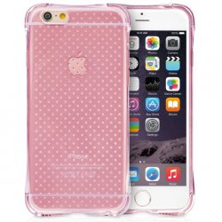 Mobilskal iPhone 6/6S PLUS Pink Dots + Displayskydd