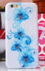 Bakskal iPhone 6 Plus/6S Plus Blue Flowers
