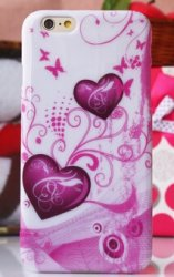Bakskal iPhone 6 Plus/6S Plus Pink Hearts