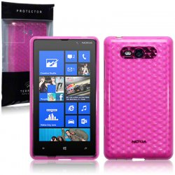 Back Cover Lumia 820 Hot Pink
