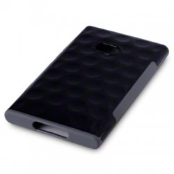 Back Cover Lumia 900 Side Grip Black