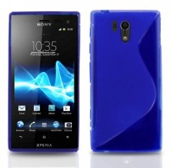 Back Cover Xperia Acro S Style Blue