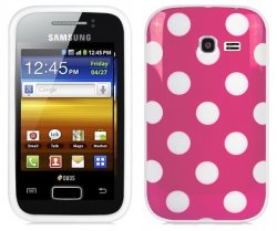 Back Cover S6102 Galaxy Y Duos Pink Polka
