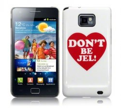 Back Cover i9100 Galaxy S2 White w/ Heart
