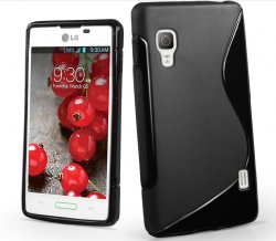 Back Cover Optimus L5 II Style Black