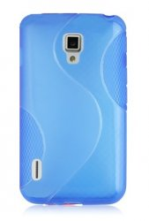 Back Cover Optimus L7 II Style Blue