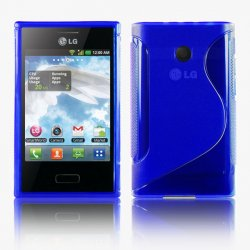Back Cover Optimus L3 Style Blue