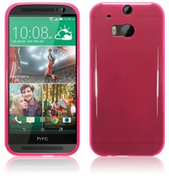 Bakskal HTC One M8 / M8S Hot Pink
