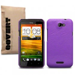 Bakskal HTC One X/One X Plus Purple leather Skin