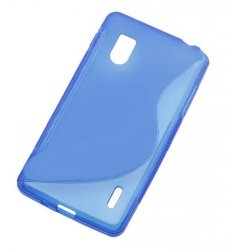 Back Cover Optimus G Style Blue