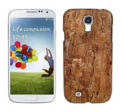 Back Cover i9500 Galaxy S4 Old Wood Dark Brown