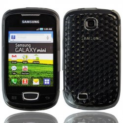 Back Cover S5570 Galaxy Mini Smoke Black