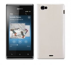 Back Cover Xperia J Solid White