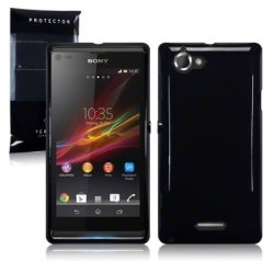 Back Cover Xperia L Solid Black