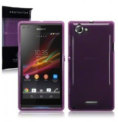 Back Cover Xperia L Plum