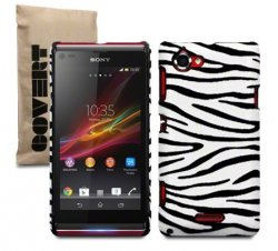 Back Cover Xperia L Leather Zebra