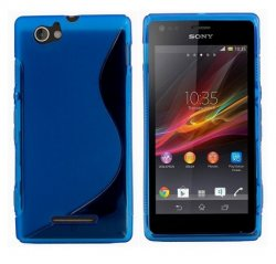 Back Cover Xperia M Style Blue