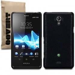 Back Cover Xperia T Leather Black