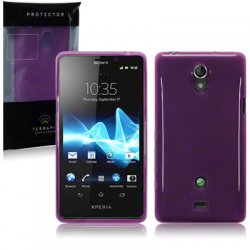 Back Cover Xperia T Plum