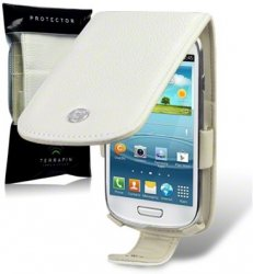 Flipväska i8190 Galaxy S3 Mini Cow Leather BoneWhite