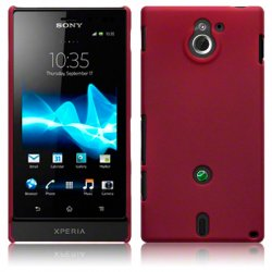 Hard Case Xperia Sola Solid Red