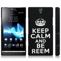Hard Case Xperia S Keep Calm Black