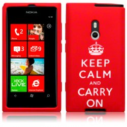 Silikonskydd Lumia 800 Keep Calm Red