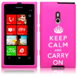 Silikonskydd Lumia 800 Keep Calm Pink