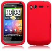 Silikonskydd HTC Desire S Pure Red