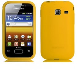 Silikonskydd S6102 Galaxy Y Duos Yellow