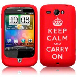 Silikonskydd HTC Wildfire Red Keep Calm