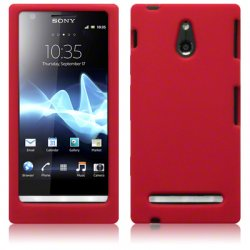 Silikonskydd Xperia P Red