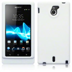 Silikonskydd Xperia Sola Solid White