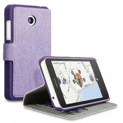 Mobilväska Lumia 630 Leather Purple Slim