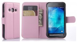 Mobilväska Galaxy Xcover 3 Pink w/Stand