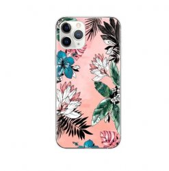 iPhone 11 Pro Max Skal - Flowers Pink