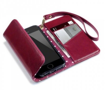 Mobilväska iPhone X/XS Trifold Purse Red