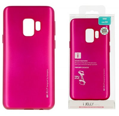 Mobilskal Samsung Galaxy S9 i-Jelly Metal Hot Pink