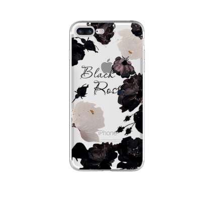 Mobilskal iPhone 7/8 Black Rose