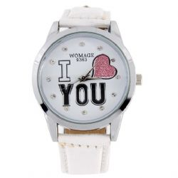Armbandsur I LOVE YOU white