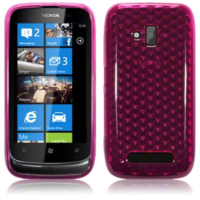 Back Cover Lumia 610 Hot Pink