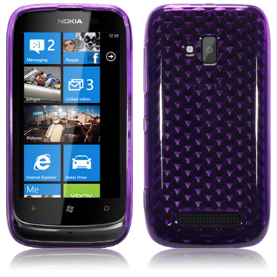 Back Cover Lumia 610 Plum