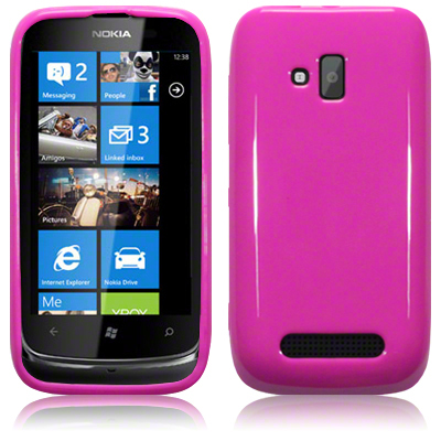 Back Cover Lumia 610 Solid Pink