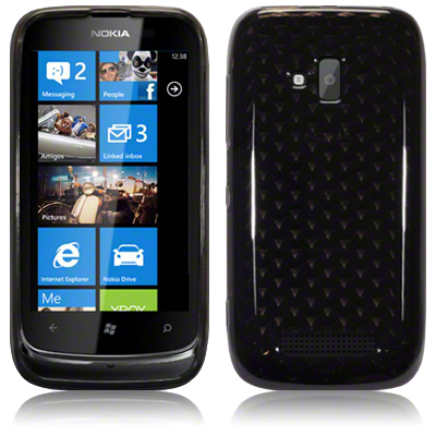 Back Cover Lumia 610 Smoke Black